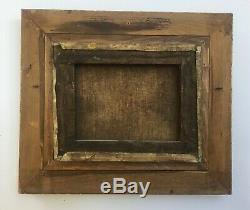 Table Former, Oil On Canvas, River Landscape, Gilded Wood Frame, Early Twentieth