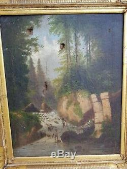 Table Former Oil On Canvas, Sinner River XIX S Signed To Decipher