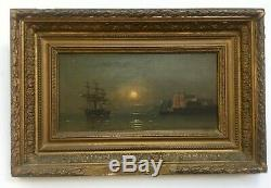 Table Former, Oil On Panel, Navy Moonlight, Nineteenth