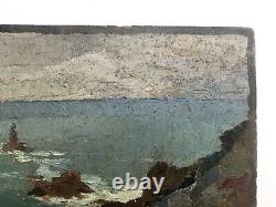 Table Former Signed And Dated 29, Oil On Cardboard, Navy, Britain Early Twentieth