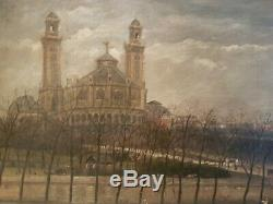 Table Oil On Canvas Michel Trojan Palace From Trocadero Paris