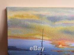 Table Oil On Canvas Signed Former Hubert Bridoux (twentieth-s) Marinne