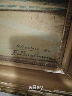 Table Oil On Canvas Signed Former Soulacroix F. (1858- 1933) Era