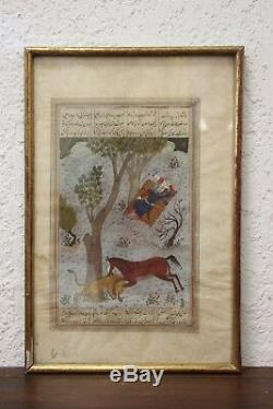 Table Oil On Paper Persia XIX Or Older