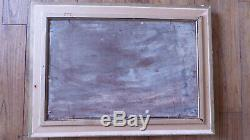 Table Old Navy Oil On Wood Eugene Jacquet End 19th