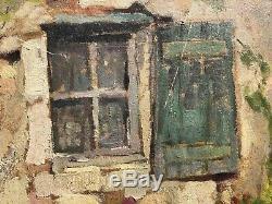 Table Old Nineteenth Louis Berges (1878-1956) Oil On Cardboard Ariege