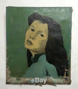 Table Old, Oil On Canvas To Restore, Vietnamese, Portrait
