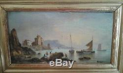Table Old Oil On Marine Panel Early 19th. Sign
