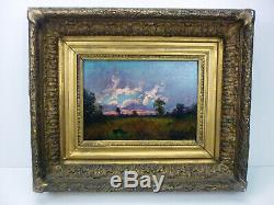 Table Old Oil On Wood End Debut 19 Eme Eme 20 Signature Landscape