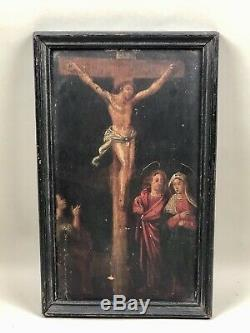 Table Old, Paint A Crucifixion On Wood XVIII