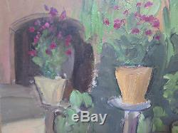 Table Old Painting Oil On Table View Landscape Campaign Original P3