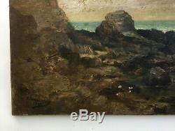 Table Old Signed A. Lamoureux, Dated 1896 Oil On Canvas, Britain Nineteenth