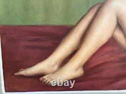 Table Old Woman Naked Sign Dupin Oil On Canvas Framework Montparnasse