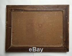 Table Orientalist Signed Former Pol Oil On Masonite, Box, Twentieth
