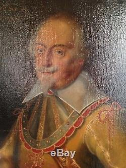 Table Seventeenth Century Portrait Of The Lord Of Gauville 17th Oil On Canvas C1630