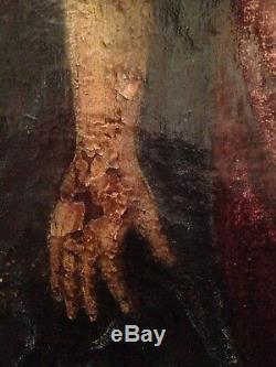Table XVII Old Religious Pieta Oil On Canvas 17th