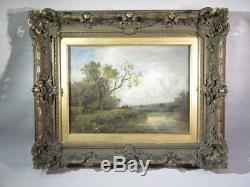 Victor Dupre Ancient Oil Table On Canvas Landscape Xixth Barbizon Characters