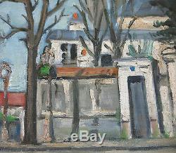 Youlard, Downtown Street In Neuilly In 1944 On Neuilly Seine, Ancient Painting, Ww 2