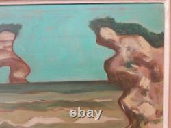 ANCIEN TABLEAU Huile sur Panneau Art Naïf Signé JEAN VELLIOT 1920 1999