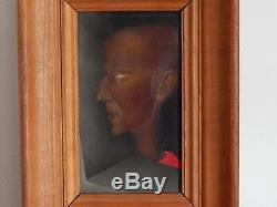 ANCIEN TABLEAU Huile sur Toile Portrait Signé PIERRE HENRY 1924 2015