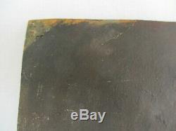 AUGUSTIN MEMIN Autoportrait signée huile ancienne sur panneau carton
