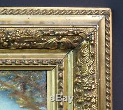 A 1520 belle peinture ancienne huile sur panneau 43cm signé demoiselle Venise