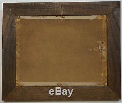 Ancien Peinture Tableau, Huile Sur Carton Paysage, Signature A Identifier