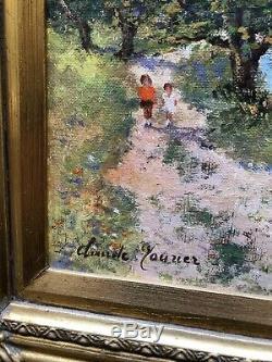 +++++ Ancien Tableau Hst Huile Sur Toile Signe Claude Mourier +++++