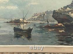 Ancien Tableau Huile Sur Toile Signé Guerin (1895) Cadre Montparnasse