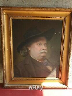 Ancien Tableau, Portrait, Homme, 1906, Huile Sur Toile, Signe, Peinture Painting
