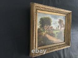 Ancien Tableau huile sur toile signée