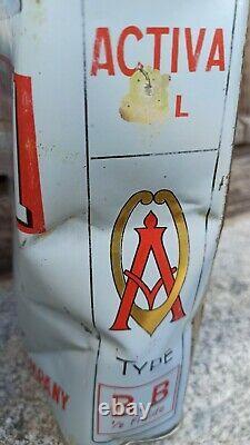 Ancien bidon d huile ACTIVA OIL Le diable sur l auto 2 litres NEW ALLIANCE OIL