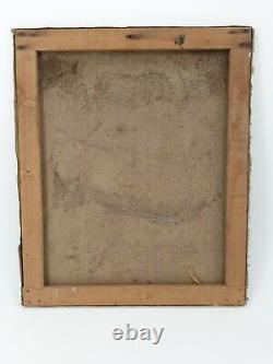Ancien portrait d'homme, XIX ème s, huile sur toile