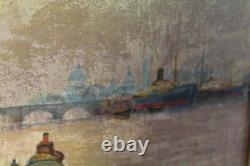 Ancien tableau huile sur isorel signé H Glate
