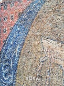 Ancien tableau huile sur toile à identifier