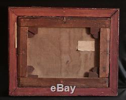 Ancien tableau huile sur toile paysage au moulin signé de Bary fin XIX ème