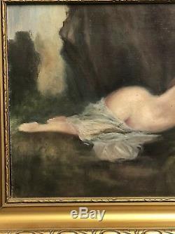 Ancienne huile sur panneau Dlg Jean Jacques Henner