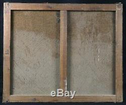 Ancienne huile sur toile signée Chasse en bord mer Bretagne canard bécasse