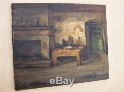 Ancienne huile sur toile signée Denis BRUNAUD années 1950