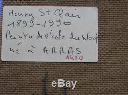 Ancienne marine, huile sur panneau signée Henry St clair, Arras, 24 x 16 cm