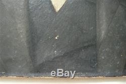 Ancienne peinture huile sur toile, portrait homme 19 ème s. Signée, datée 1893