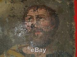 Ancienne peinture sur toile 17/18eme à restaurer/religieux