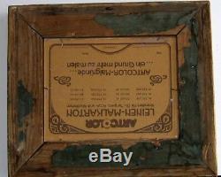Cadre Ancien Bois Dore Peinture Huile Sur Carton 3 Chiens