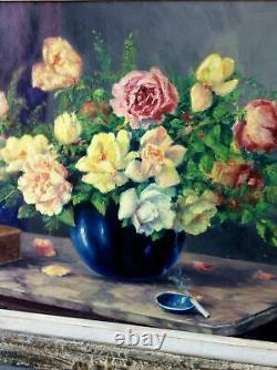 École Française vers 1900 Ancien tableau huile sur panneau figurant une nature