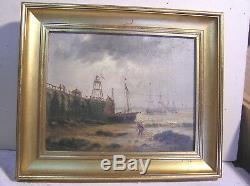 Huile Sur Toile Ancienne Marine Signee E. Dumont 1828/1894