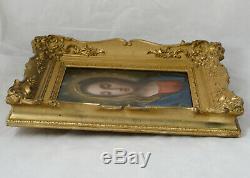 Huile sur cuivre Vierge, Madone, école italienne, début XIXè peinture ancien