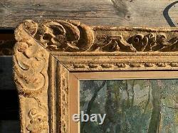 Huile sur toile CHEYSSIAL Hippodrome de Vincennes vu du bois de Boulogne -Ancien