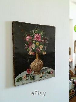 Huile sur toile ancienne 18 ou 19ème