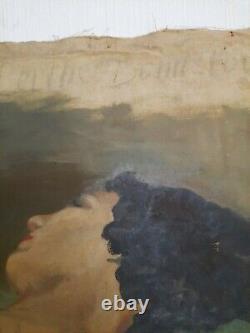 Huile sur toile ancienne Nu