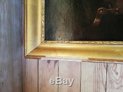 J. Imbault Huile sur toile tableau ancien nature morte cadre bois Montparnasse